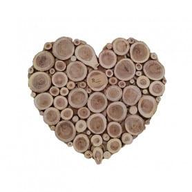 Cœur rondin de bois Exarc - saint valentin