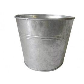 Pot rond zinc naturel