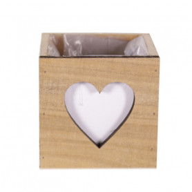 Bac bois carré cœur Anatoa