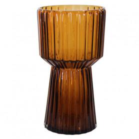 Vase ambré avec base évasée...