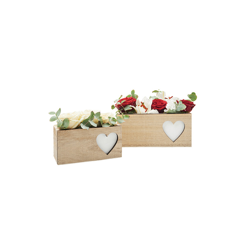 Set de bac bois rectangle Anatoa - saint valentin