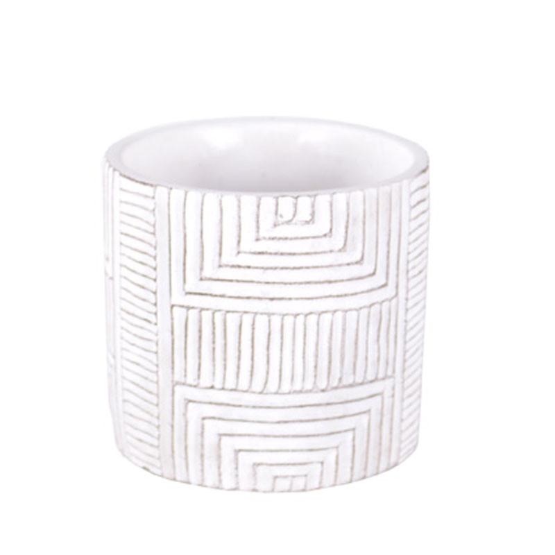 Pot rond motif géo - Plusieurs modèles - grossiste fleuriste