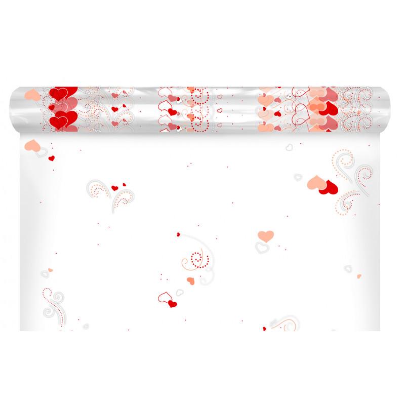 Papier polypro imprimé 35µ In love - Grossiste fleuriste décoration