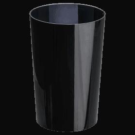 Vase plastique noir