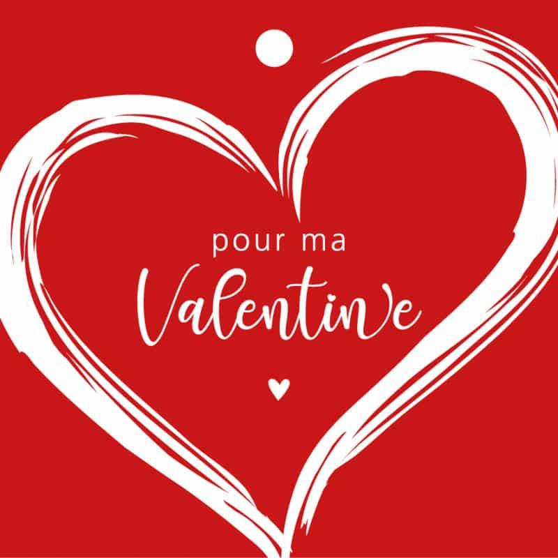 10 cartes de circonstance Pour ma Valentine