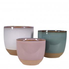 Pot rond Bicolore - Plusieurs tailles