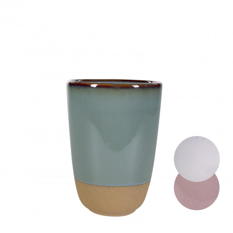 Vase rond bicolore - grossiste fleuriste