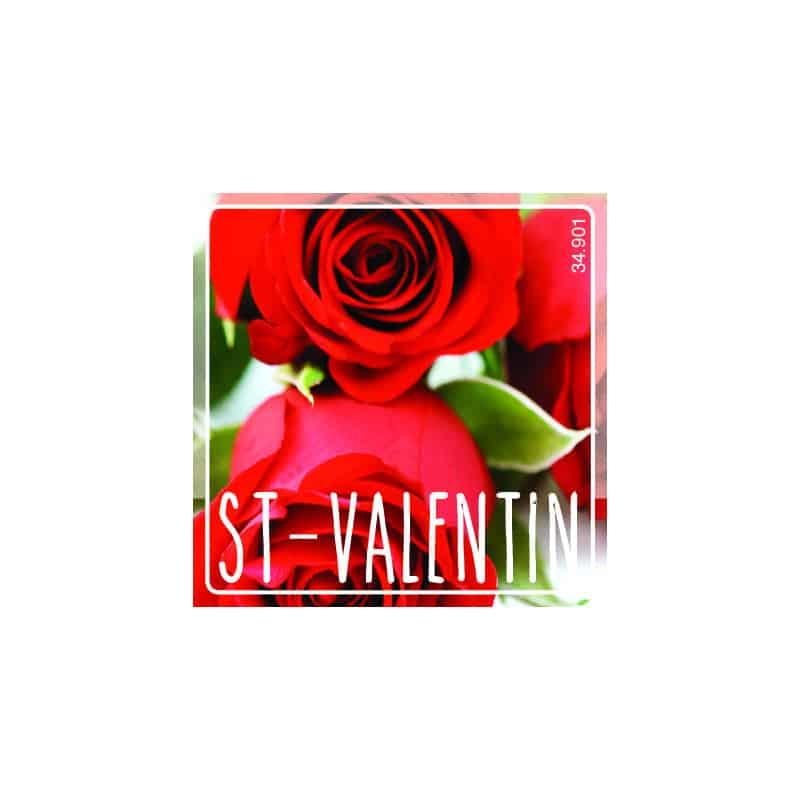 Étiquettes adhésives St Valentin - Grossiste fleuriste déco tendance