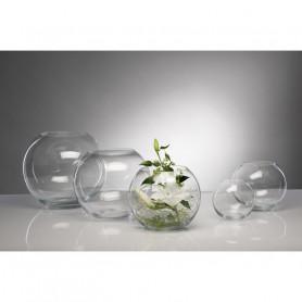 Vase boule en verre coupé à...