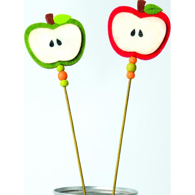 Pommes feutrine sur pic