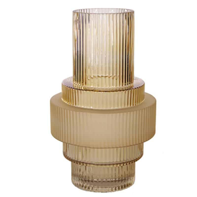 Vase verre doré Mayto - grossiste pot fleurs séchées