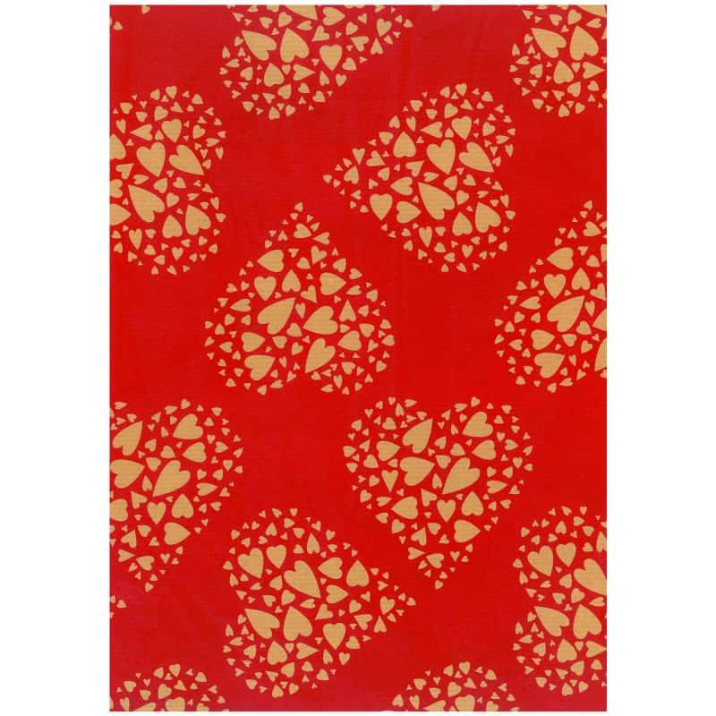 Papier kraft naturel imprimé - Grossiste décoration pot de fleurs