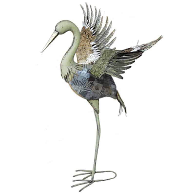 Grue ailes ouvertes Hélia - Grossiste décoration fleuriste