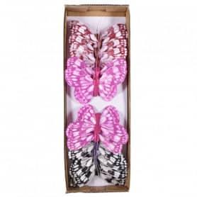 Boite de 12 Papillons 8,5cm...