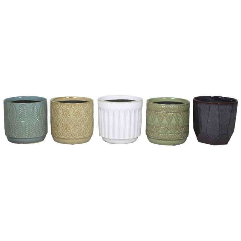 Cache-pots assortis en céramique - Grossiste fleuriste décoration