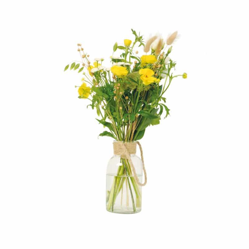 Vase en verre avec cordelette - Matériel pot de fleurs déco tendance