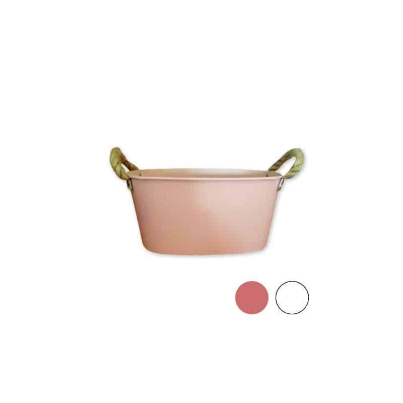 Coupe ovale en zinc - Grossiste matériel pot de fleurs professionnels