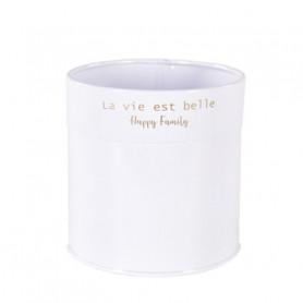 """Pot """"la vie est belle"""" - Plusieurs tailles - grossiste fleuriste accessoires"""