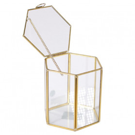 Boite hexagonale contour or Matro - grossiste accessoires fleuriste