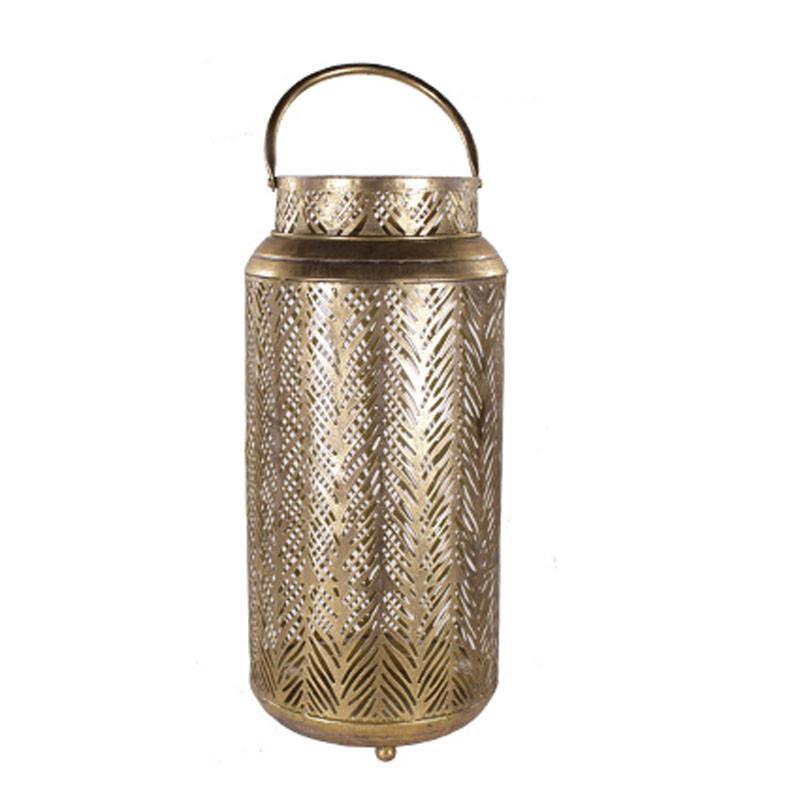 Lanterne déco doré Giola - décoration vitrine fleuriste