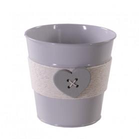 Pot rond cœur bois et corde Taome - Plusieurs tailles - grossiste pot de fleurs