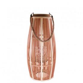 Lanterne bicolore bois Plaza