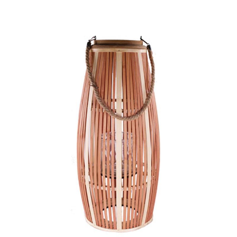 Lanterne bicolore bois Plaza - Décoration vitrine