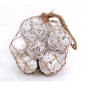 Filet de boules déco Martia x3 - grossiste éléments secs fleuriste