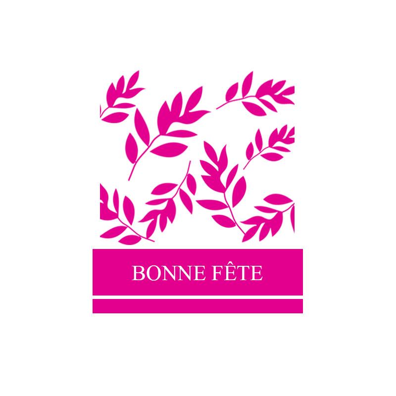 Étiquettes adhésives Bonne fête - Grossiste fleuriste décoration