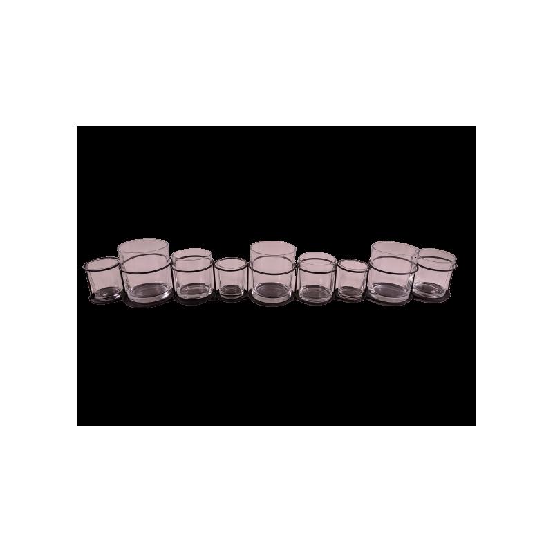 Présentoir en métal 9 photophores - Grossiste décoration bougie fleurs