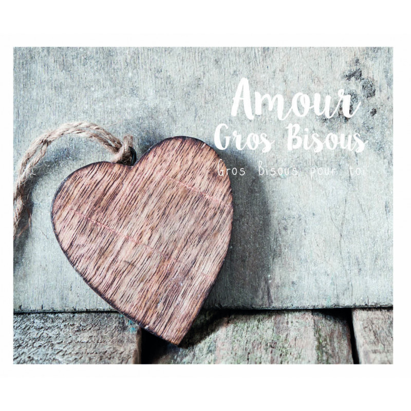 À ras bord avec loveliness amitié amour vous remercier carte vide à l/'intérieur 18x13cm