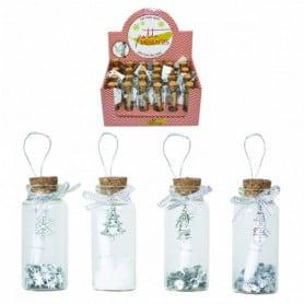24 flacons à message - Grossiste pour fleuriste décoration de noel