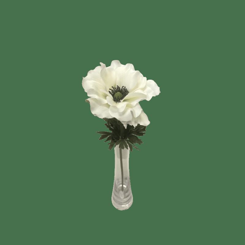 Anémone artificielle sur tige - Grossiste matériel fleuriste déco