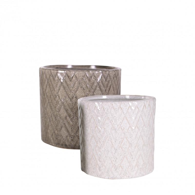 Pot cylindre céramique - Plusieurs tailles - grossiste fleuriste pot de fleurs