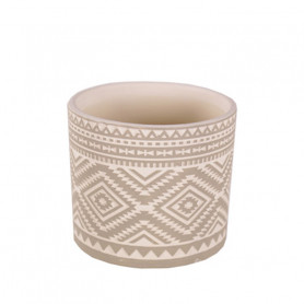 Pot rond motif ethnique Sigla - Plusieurs tailles - grossiste fleuriste