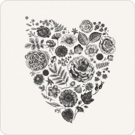 Étiquette carrée cœur par...
