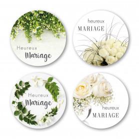 Étiquette adhésive mariage par 500 - Romy
