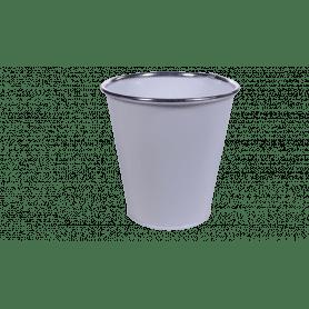 Pot rond zinc bague H.29cm - grossiste pot de fleurs