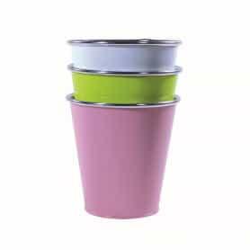 Pot rond zinc multi-coloris...