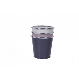 Set de pot dégradés de gris - grossiste pot zinc fleuriste