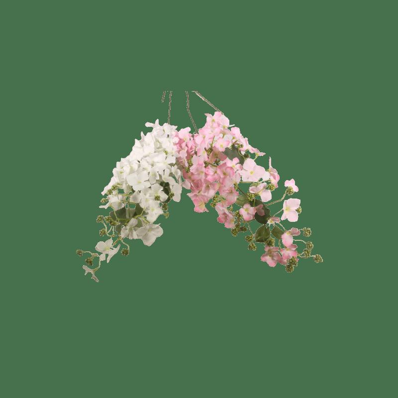 Hortensia retombée 107cm - rose clair - grossiste fleuriste