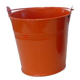 Seau zinc orange Carafa