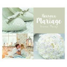 """Carte """"heureux mariage"""" Anna - grossiste fleuriste carterie"""