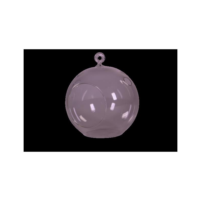 Boule ovale à suspendre 8cm Eliot - verrerie grossiste