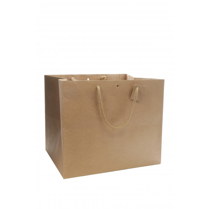 Sac kraft avec poignée - Grossiste fleuriste matériel emballage Renaud