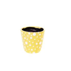 Pot rond céramique à pois - Grossiste fleuriste poterie Saison Renaud