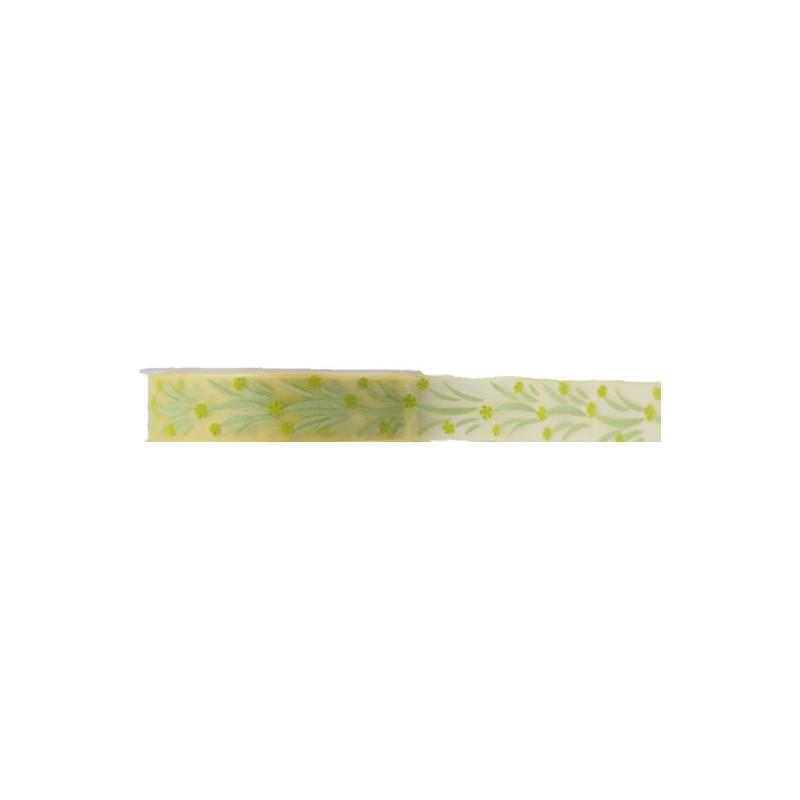 Ruban voile Ella 25mm x 20m - Plusieurs couleurs - grossiste fleuriste