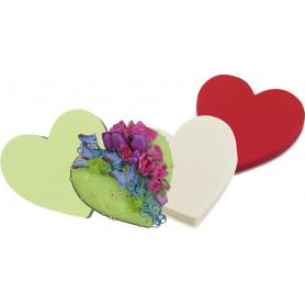 Coeur mousse florale Rainbow - grossiste fleuriste