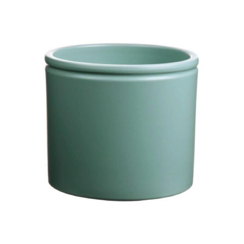 Pot céramique Lucca - D.14cm x H. 12cm - Plusieurs coloris - grossiste pot céramique