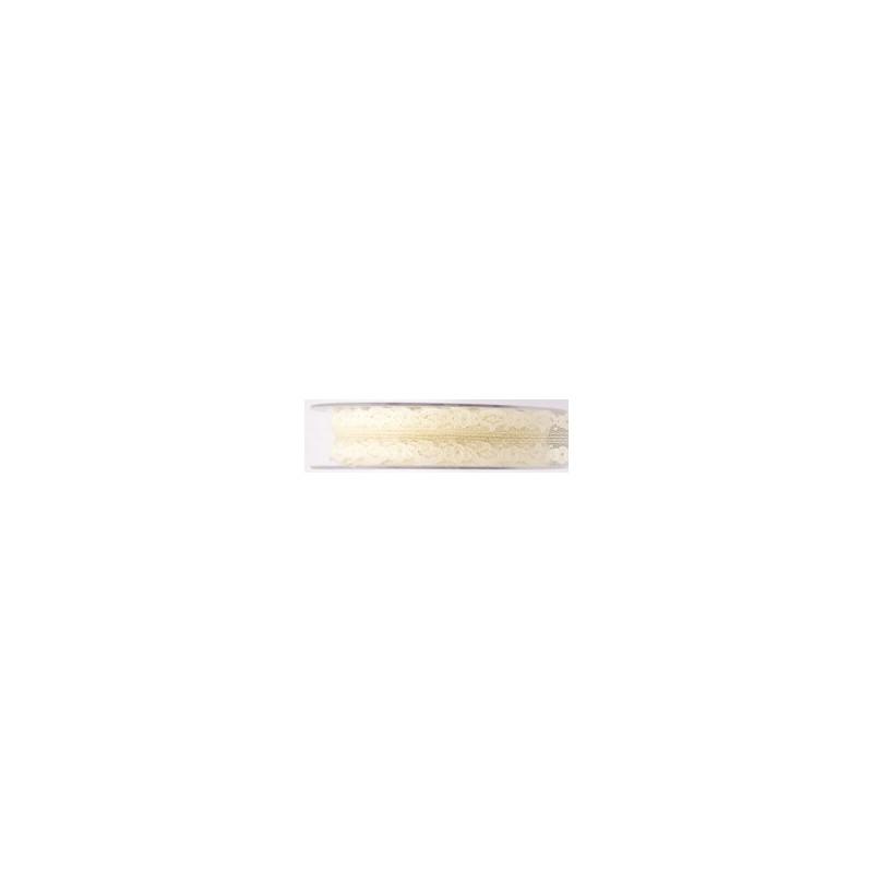 Ruban dentelle Gina - Plusieurs couleurs - 25mm x 20m - grossiste fleuriste
